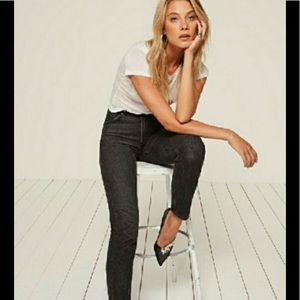 REFORMATION $138 CHARCOAL BLACK JEANS